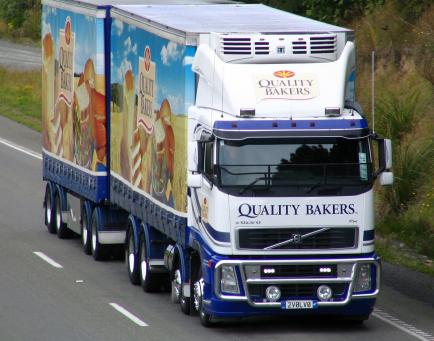 Quality Bakers delivery truck